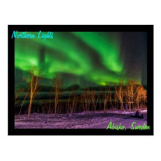 Cartão Postal Suecia de Borealis Abisko da Aurora da aurora