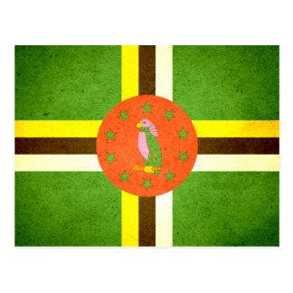 Cartão Postal Sun beijou a bandeira de Dominica