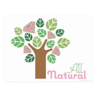 Cartão Postal Supergirl toda a árvore natural