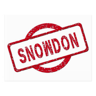 Cartão Postal Suporte de Snowden