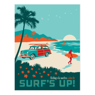 Cartão Postal Surf acima