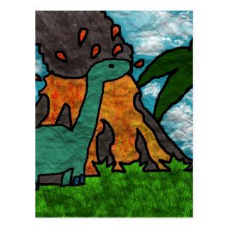 Cartão Postal Susto de Dino
