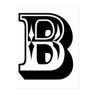 """Cartão Postal T da letra do alfabeto de """"B"""""""