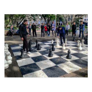 Cartão Postal Tabuleiro de xadrez gigante