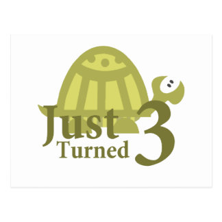 Cartão Postal Tartaruga verde: Apenas três girados