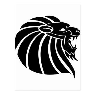 Cartão Postal Tatto tribal do estilo do leão legal do Muttahida
