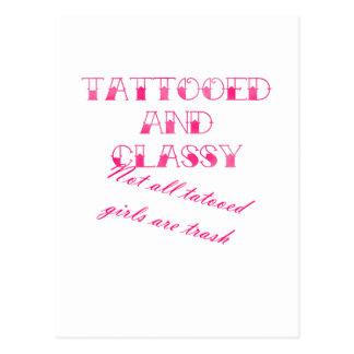 Cartão Postal Tattooed e elegante