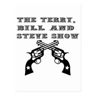 Cartão Postal TBS - Seis logotipos do atirador