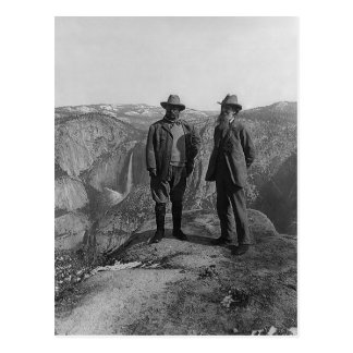 Cartão Postal Teddy Roosevelt e John Muir em Yosemite