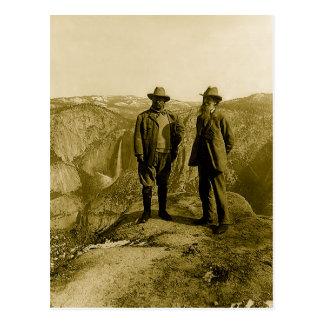 Cartão Postal Teddy Roosevelt e John Muir no ponto da geleira