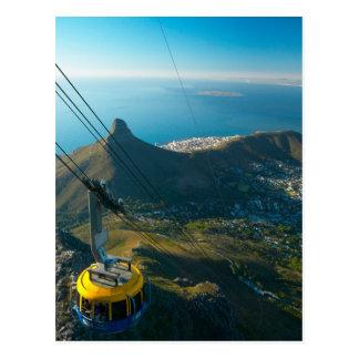 Cartão Postal Teleférico da montanha da mesa, Cape Town