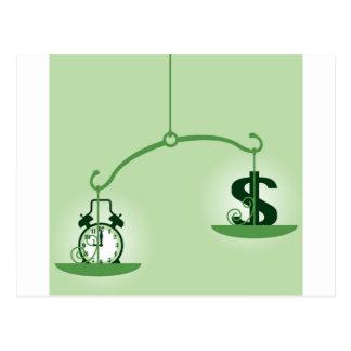 Cartão Postal Tempo é dinheiro escala