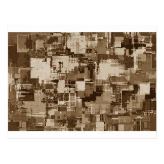 Cartão Postal Teste padrão abstrato de Brown Camo