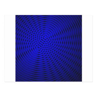 Cartão Postal Teste padrão azul