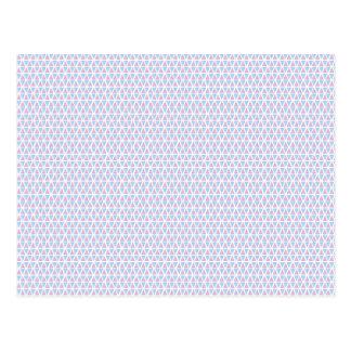 Cartão Postal Teste padrão cor-de-rosa e azul