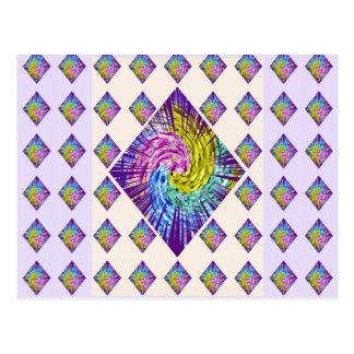 Cartão Postal Teste padrão da faísca do DIAMANTE