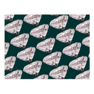 Cartão Postal teste padrão dado forma dos diamantes