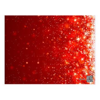 Cartão Postal teste padrão de brilho feliz vermelho