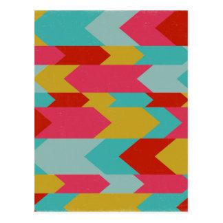 Cartão Postal Teste padrão de Colorfull