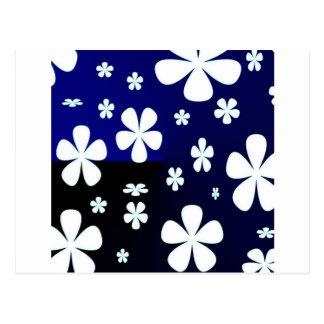 Cartão Postal Teste padrão de flor abstrato da flor