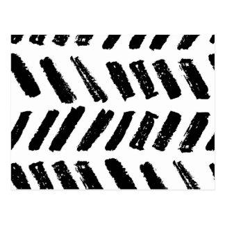 Cartão Postal Teste padrão do corte do Brushstroke