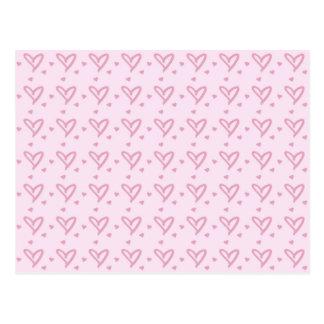 Cartão Postal Teste padrão dos corações