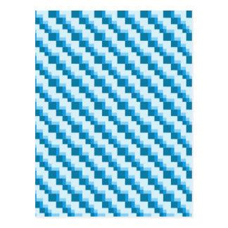 Cartão Postal Teste padrão dos quadrados