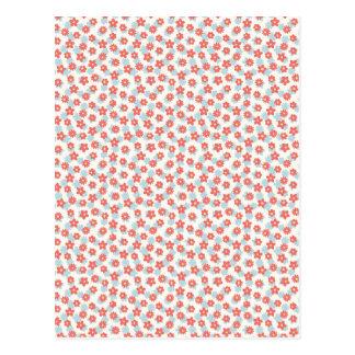 Cartão Postal Teste padrão floral