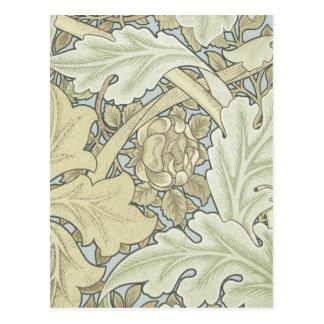 Cartão Postal Teste padrão floral de Nouveau da arte do