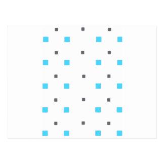 Cartão Postal Teste padrão quadrado