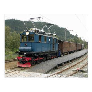 Cartão Postal Thamshavnbanen em Lokken, no. 8 da locomotiva