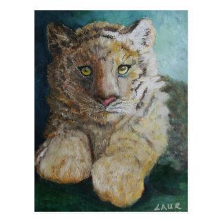 Cartão Postal Tigre Cub