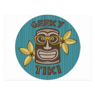 Cartão Postal Tiki Geeky