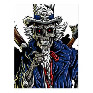 Cartão Postal Tio Sam do zombi