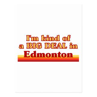 Cartão Postal Tipo de I'm de uma grande coisa em Edmonton