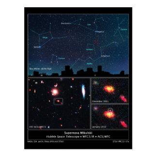 Cartão Postal Tipo Supernova Mikulski do espaço profundo de II