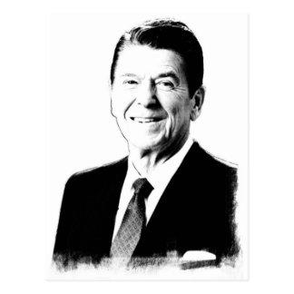 Cartão Postal Tiragem de Ronald Reagan