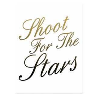 Cartão Postal Tiro para as estrelas