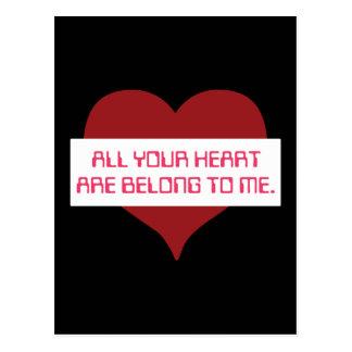 Cartão Postal Todo seu coração
