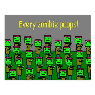 Cartão Postal tombadilhos de cada zombi
