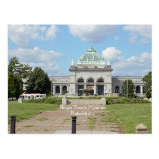 Cartão Postal Toque por favor no museu Philadelphfia