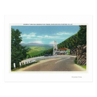 Cartão Postal Torre da volta & de observação do gancho de cabelo