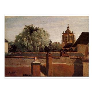 Cartão Postal Torre de Bell da igreja do santo Paterne
