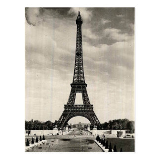 Cartão Postal Torre Eiffel Paris do vintage