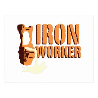 Cartão Postal Trabalhador do ferro