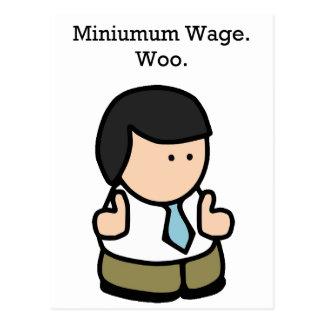 Cartão Postal Trabalhador do salário mínimo