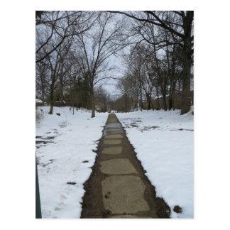 Cartão Postal Trajeto nevado