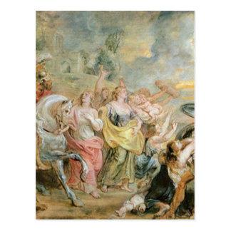 Cartão Postal Trégua entre romanos e Sabinians