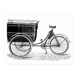 Cartão Postal Triciclo antigo do vintage