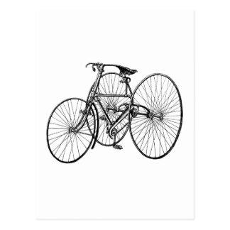 Cartão Postal Triciclo do vintage - bicicleta de três rodas